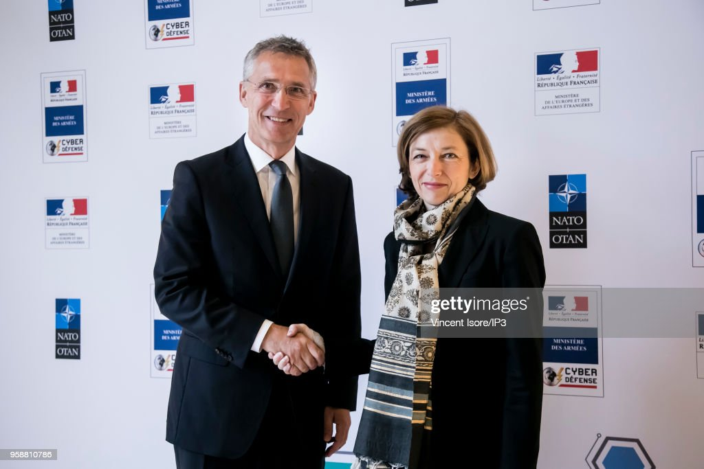 Jens Stoltenberg, Secretary General of NATO  Gives A Press Confrence in Paris