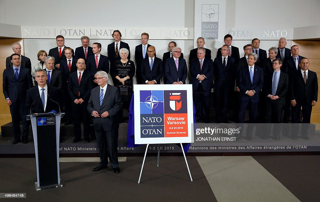 BELGIUM-NATO-FOREIGN-AFFAIRS : News Photo