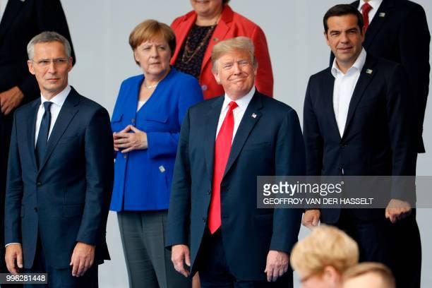 Secretary General Jens Stoltenberg, German Chancellor Angela Merkel, US President Donald Trump, Greek Prime Minister Alexis Tsipras and other leaders...
