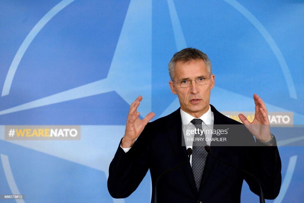 BELGIUM-NATO-DEFENCE-FOREIGN-AFFAIRS : News Photo
