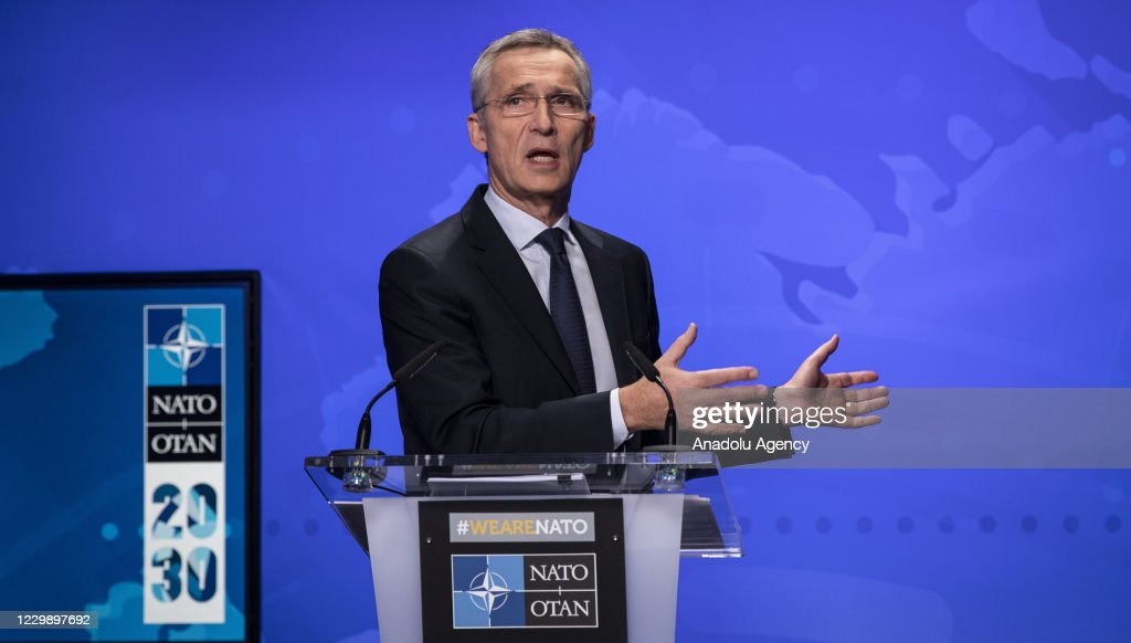 Meeting of NATO Ministers of Foreign Affairs in Brussels : News Photo