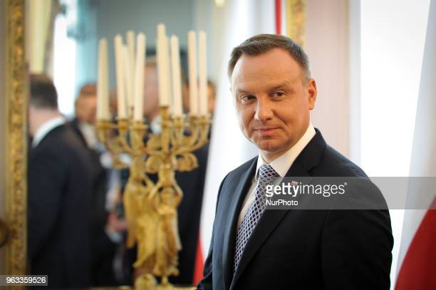 Secretary General Jens Stoltenberg meets with Polish president Andrzej Duda in Warsaw, Poland on May 28, 2018. On Monday, the last day of the NATO...