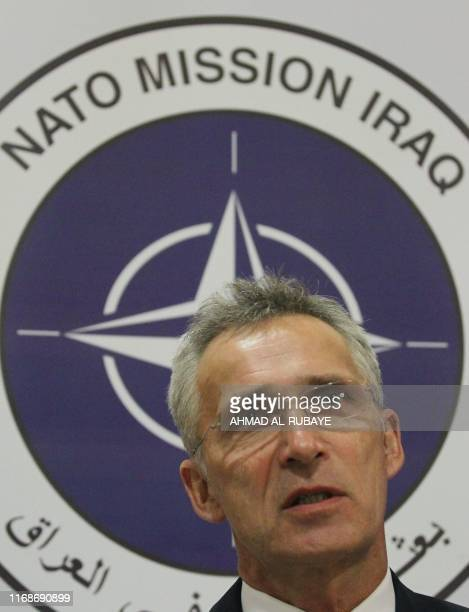 Secretary General Jens Stoltenberg speaks to AFP on September 16 2019 in the Iraqi capital Baghdad where he made his first comments on the strikes on...