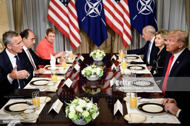 Secretary General Jens Stoltenberg , US President Donald Trump , NATO Assistant Secretary General for Political Affairs and Security Policy Alejandro...