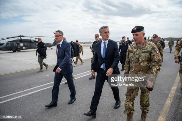 Secretary General Jens Stoltenberg visits the Italianrun military base Camp Arena to meet the soldiers in the context of the Nato Resolute Support...