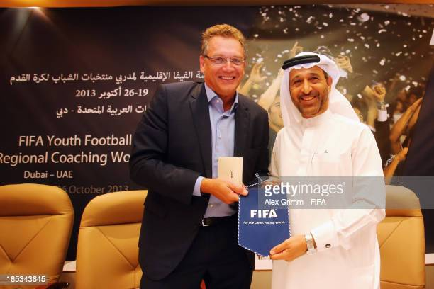 Secretary General Jerome Valcke and UAEFA President Yousuf al Serkal open the FIFA Football Regional Coaching Workshop at Emirates Concorde Hotel on...