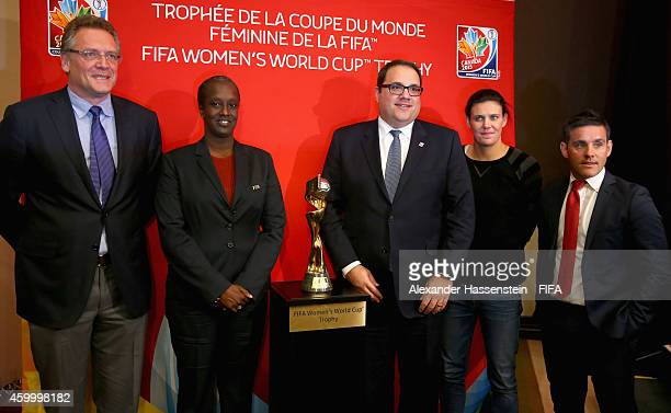 FIFA Secretary General Jerome Valcke Lydia Nsekera Executive Committee coopted Member and President of the Burundi Football Federation Victor...