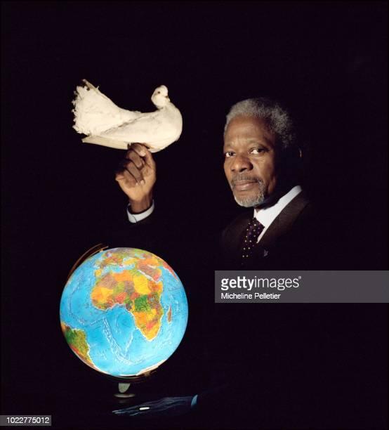 UN Secretary General Kofi Annan 2001 Nobel Peace Prize laureate in a symbolic portrait