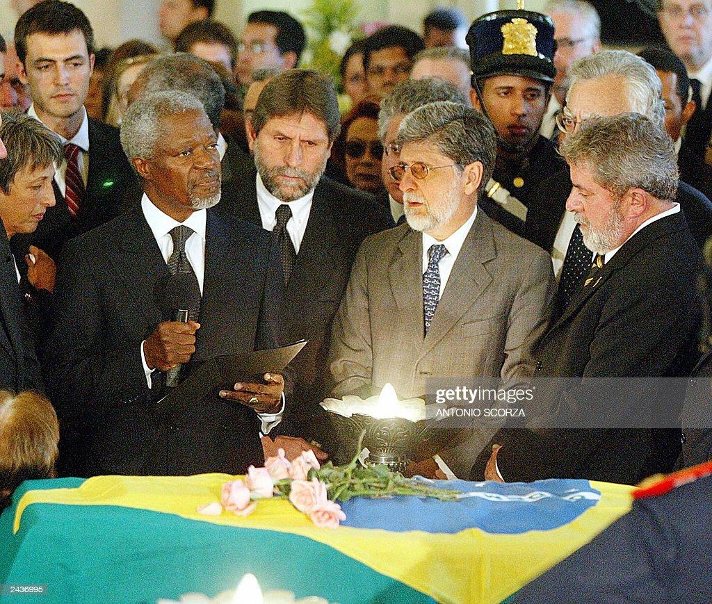 UN Secretary General Kofi Annan gives a  : News Photo