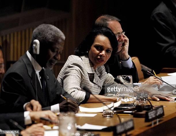 Secretary General Kofi Annan, H.E. Ms. Condoleezza Rice, Secretary of State and H.E. Mr. Javier Solana, High Representative for a Common Foreign and...