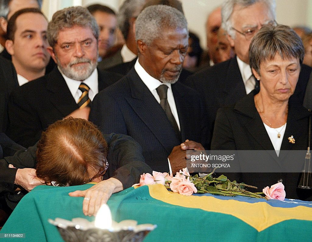 BRAZIL-UN-KOFI ANNAN-VIEIRA DE MELLO : News Photo