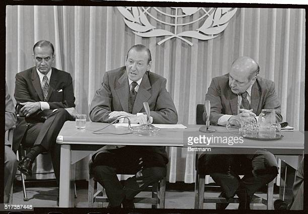 UN Secretary General Kurt Waldheim tells a press conference here July 24th that he had unofficial reports from Hanoi that United States bombs have...