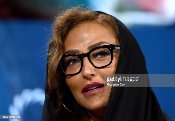 Secretary General of Alwaleed Philanthropies HRH Princess Lamia Bint Majed Saud AlSaud speaks onstage during the 2018 Concordia Annual Summit Day 2...