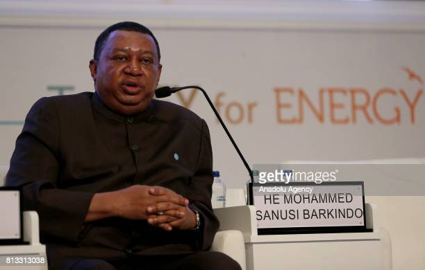 Secretary General of Organization of the Petroleum Exporting Countries Mohammed Barkindo speaks during the 22nd World Petroleum Congress at Lutfi...