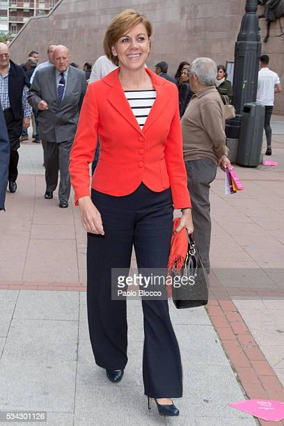 Secretary General of Spanish PP Maria Dolores de Cospedal attends bullfighting during San Isidro Fair at Las Ventas Bullring on May 25 2016 in Madrid...