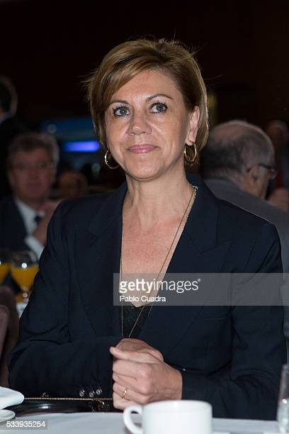 Secretary General of Spanish PP Maria Dolores de Cospedal participates in an informative breakfast organized by the news agency Europa Press at the...
