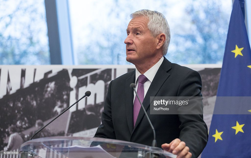 Andrzej Duda at Council of Europe and European Court of Human Rights in Strasbourg : News Photo