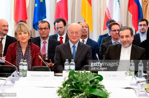 Secretary General of the European Union External Action Service Helga Schmid, Director General of the International Atomic Energy Agency IAEA, Yukiya...