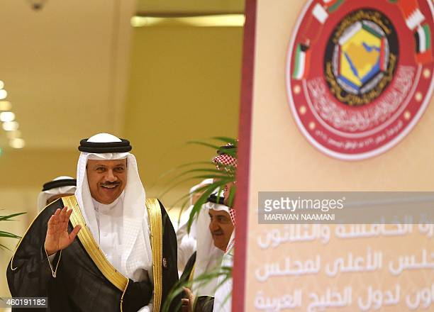 Secretary General of the Gulf Cooperation Council for the Arab States of the Gulf Abdul Latif Bin Rashid Al Zayani attends the meeting of Foreign...