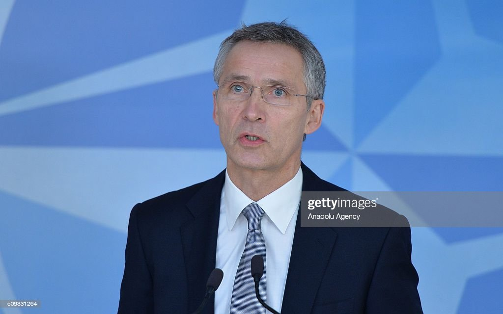 Stoltenberg's press conference before NATO Defence Ministers Meeting : ニュース写真