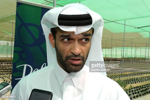 Secretary General of the Qatar 2022 Supreme Committee Hassan alThawadi speaks to the press as he attends the inauguration of the Supreme Committee...