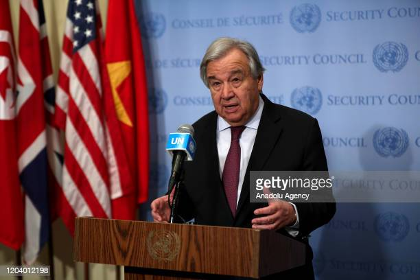 Secretary General of United Nations Antonio Guterres held a press conference on the situation in Syria and about the coronavirus situation that...