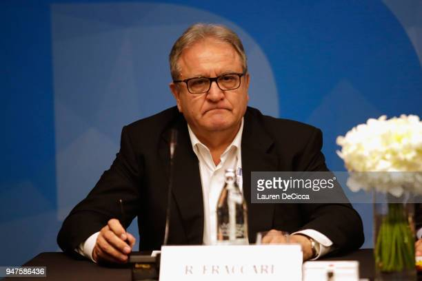 Secretary General Riccardo Fraccari attend the ARISF Council Meeting on day three of the SportAccord at Centara Grand Bangkok Convention Centre on...