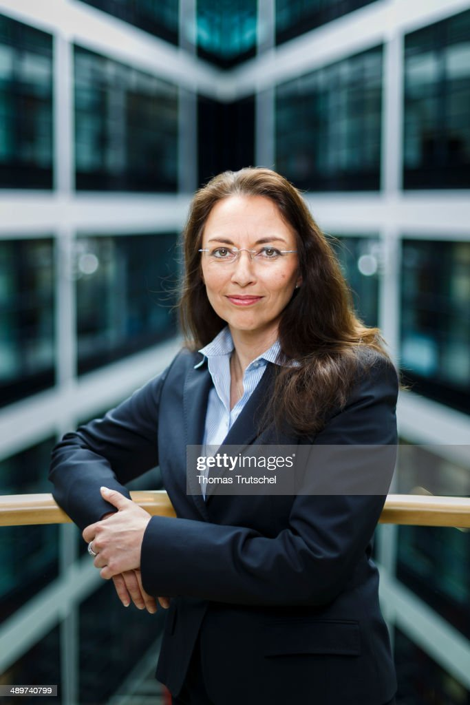 Secretary General Yasmin Fahimi poses during a portrait session at Willy-Brandt-Haus on May 12, 2014 in Berlin, Germany.