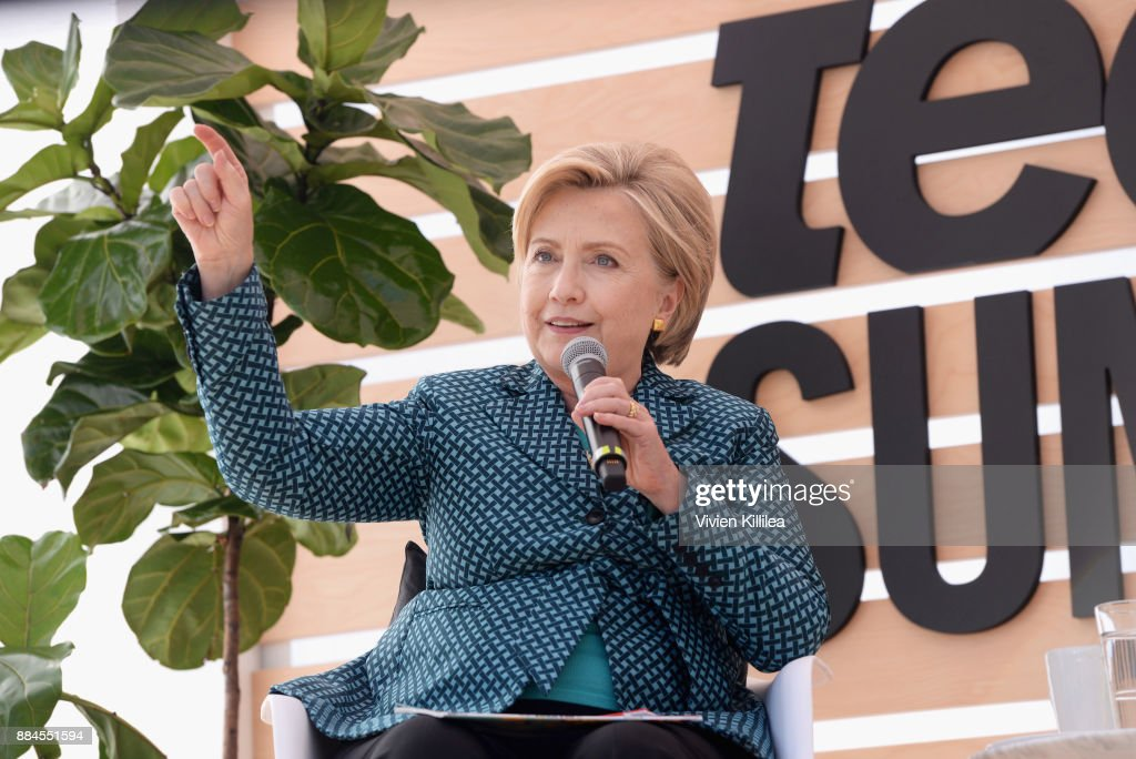 Secretary Hillary Clinton speaks onstage during The Teen Vogue Summit