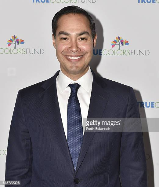 Secretary Julian Castro attends Cyndi Lauper's True Colors Fund Inaugural Damn Gala at Hollywood Athletic Club on October 9 2016 in Hollywood...