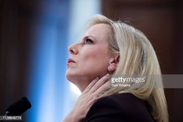 Secretary Kirstjen Nielsen testifies during a House Homeland Security Committee hearing titled 'The Way Forward on Border Security' in Cannon...