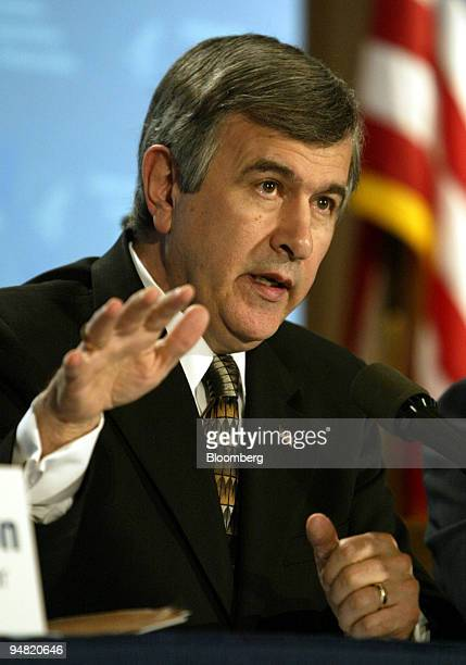 Secretary of Agriculture Mike Johanns answers a reporter's question during a news briefing in Washington DC March 20 on the combined efforts of three...