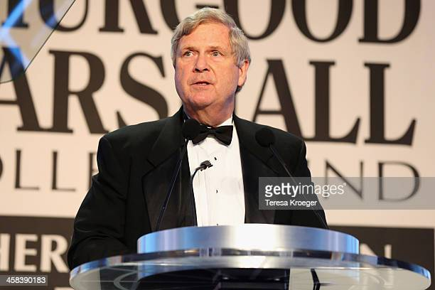 Secretary of Agriculture Tom Vilsack accepts the International Humanitarian Award onstage during the Thurgood Marshall College Fund 28th Annual...
