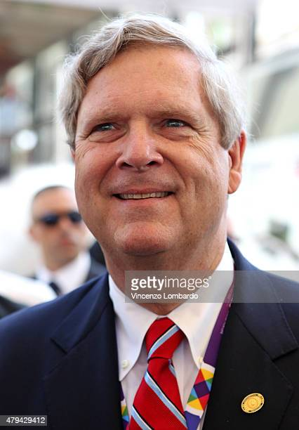 Secretary of Agriculture Tom Vilsack attends the official opening of the National Day USA at Expo on July 4 2015 in Milan Italy
