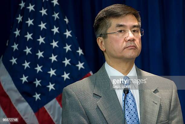 US Secretary of Commerce Gary Locke listens to a question during a press conference to announce the formation of a US Turkey Framework for Strategic...