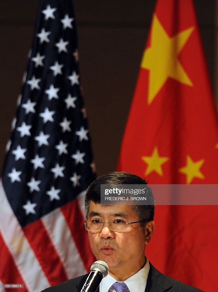 US Secretary of Commerce Gary Locke speaks at a business luncheon in Beijing on May 21, 2010. Locke is on the final stop of a three-city visit to China which earlier included Hong Kong and Shanghai, leading the first cabinet-level US trade mission since the US announced an ambitious target in March to double US shipments within five years to promote job growth. AFP PHOTO/Frederic J. BROWN
