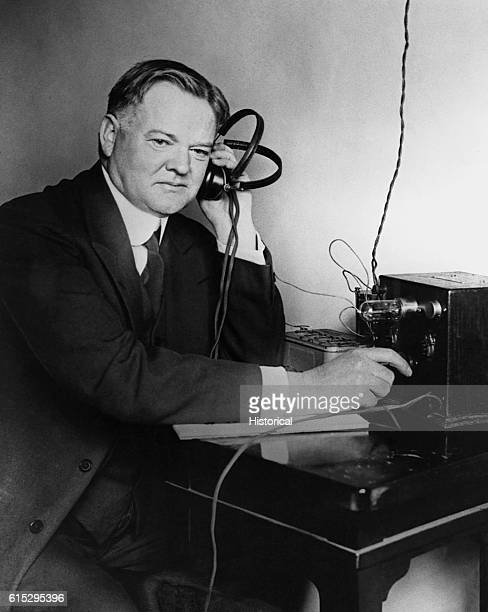 Secretary of Commerce Herbert Hoover had a small radio receiver installed in his home in order that he could better understand the complaints...
