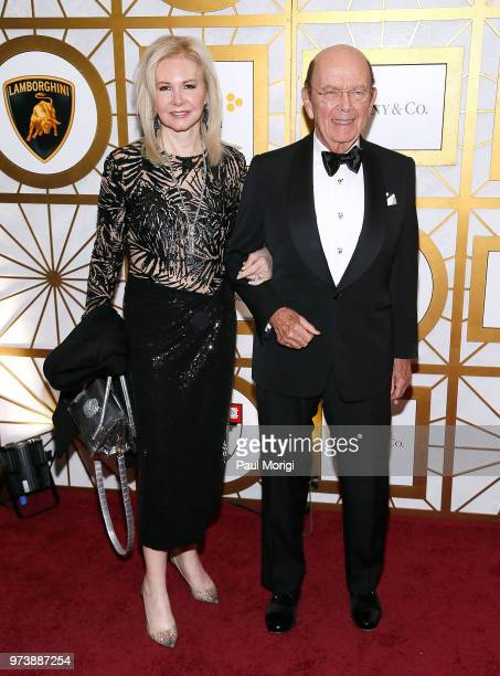 S Secretary of Commerce Wilbur Ross and Hilary Geary Ross attend the Harvard Business School Club's 3rd Annual Leadership Gala Dinner at the Four...