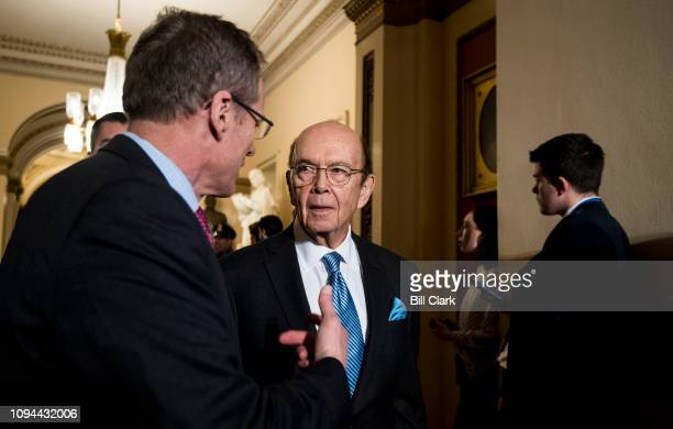 Secretary of Commerce Wilbur Ross leaves the House chamber after President Donald Trump's State of the Union Address to a joint session of Congress...