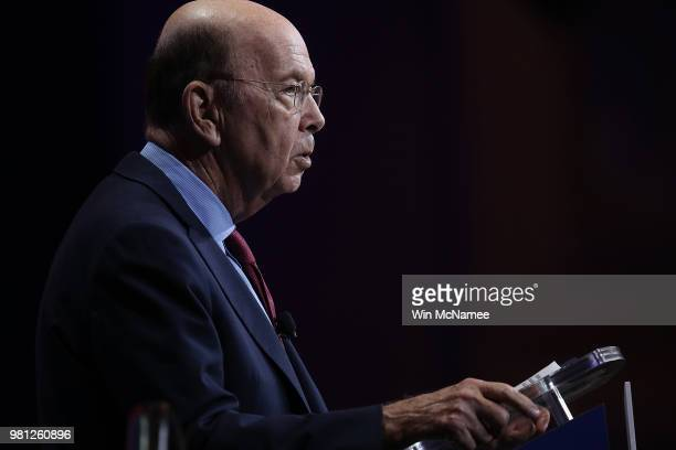 S Secretary of Commerce Wilbur Ross speaks at the SelectUSA 2018 Investment Summit June 22 2018 in National Harbor Maryland The investment summit...