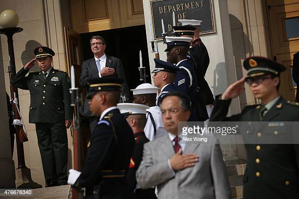 S Secretary of Defense Ashton Carter and Gen Fan Changlong Vice Chairman of the Chinese Central Military Commission of People's Liberation Army...