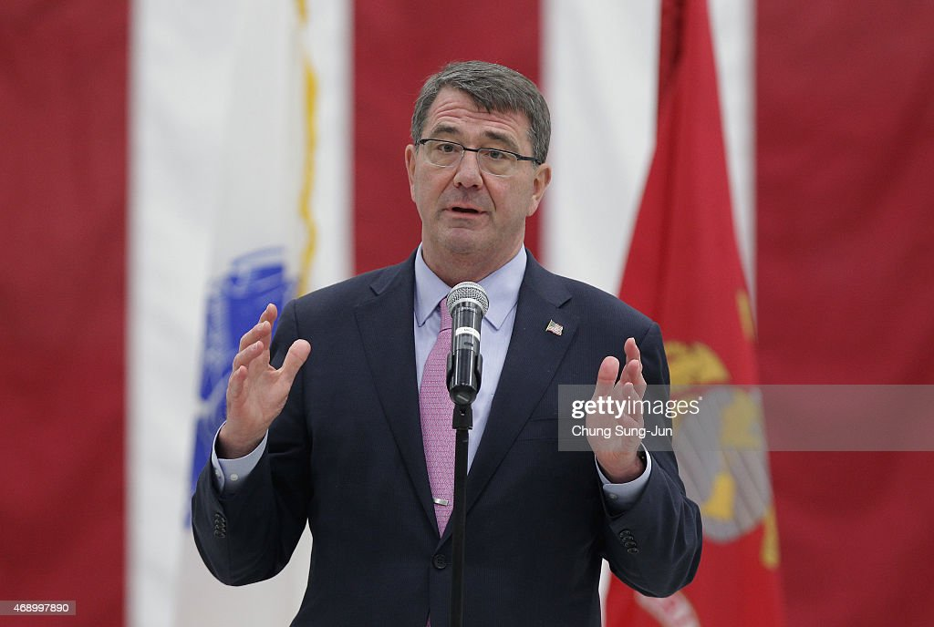 U.S. Secretary Of Defense Ashton Carter Visits South Korea - Day 1