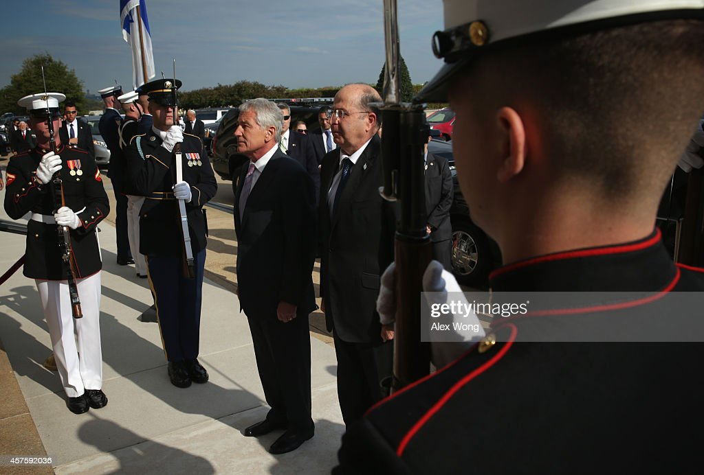 Defense Secretary Hagel Holds Honor Cordon For Israeli Counterpart