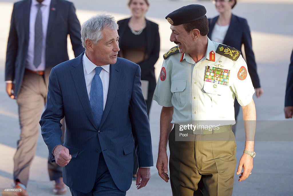 U.S. Defense Secretary Chuck Hagel Travels To Middle East