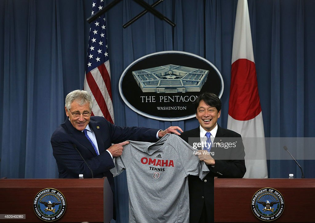 Secretary Of Defense Chuck Hagel Welcomes Japan's Minister of Defense Itsunori Onodera To Pentagon