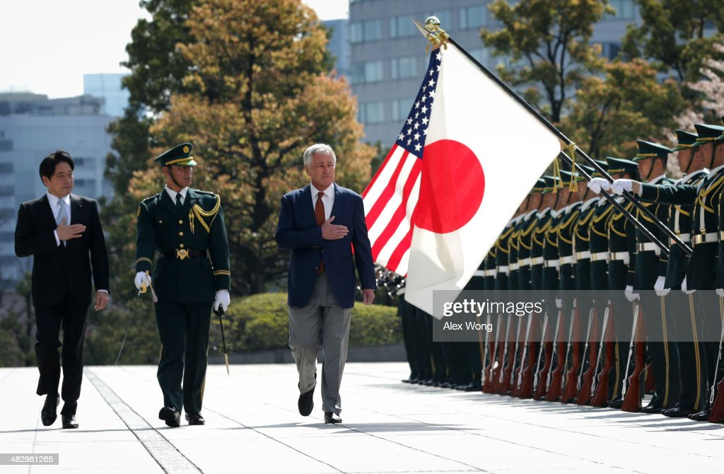Defense Secretary Chuck Hagel Travels To Japan
