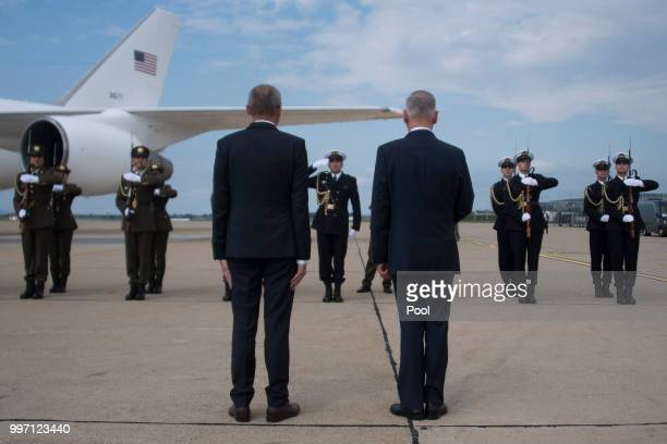 Secretary of Defense James Mattis participates in a Welcoming Ceremony with Croatian Minister of Defense Damir Krsticevic upon landing on July 12...