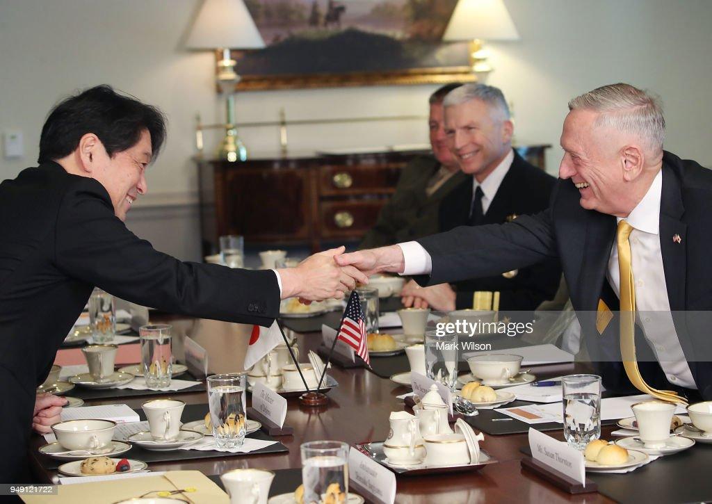Defense Secretary Mattis Hosts Japan Defense Minister Onodera At Pentagon