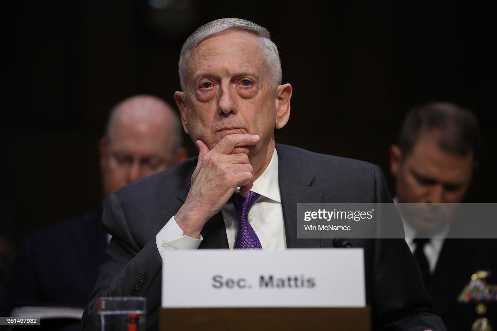 Defense Secretary Mattis Testifies Before Senate Armed Services Cmte On Budget