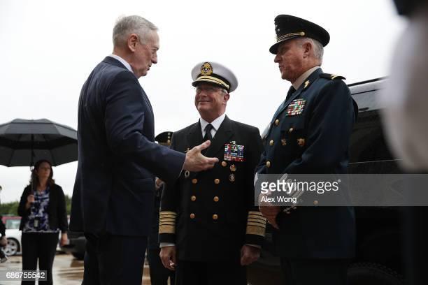 S Secretary of Defense James Mattis welcomes Mexican Secretary of National Defense Gen Salvador Cienfuegos Zepeda and Mexican Secretary of the Navy...